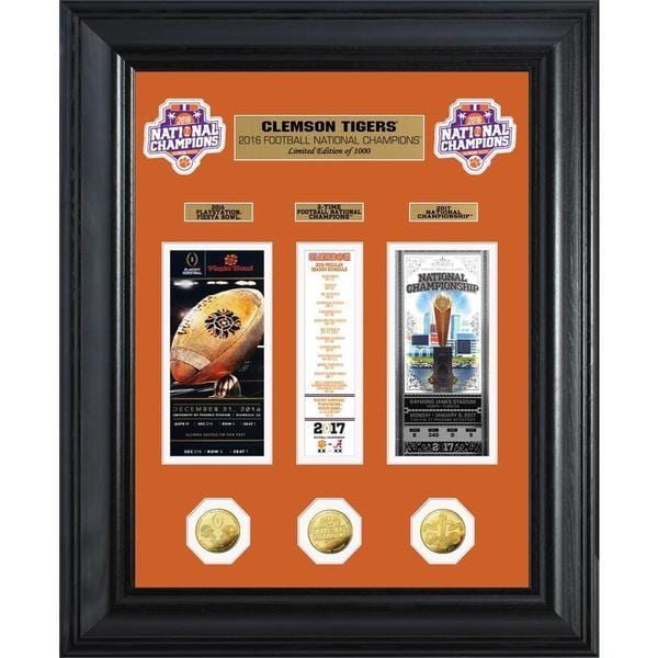 Clemson 2016 Football National Champions Deluxe Gold Coin Ticket Collection 23394441