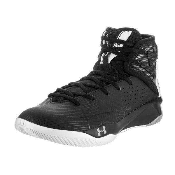 Under Armour Men's Rocket 2 Black Synthetic Leather Basketball Shoes 23412270