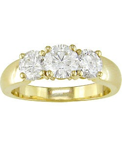 Miadora 14k Gold 2ct TDW Round Diamond Three-stone Ring (G-H, I1-I2)