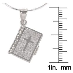 Tressa Sterling Silver Prayer Box Necklace (Spanish/English)