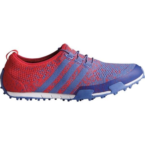 Adidas Women's Ballerina Primeknit Baja Blue/ Shock Red/ Baja Blue Golf Shoes 23436904
