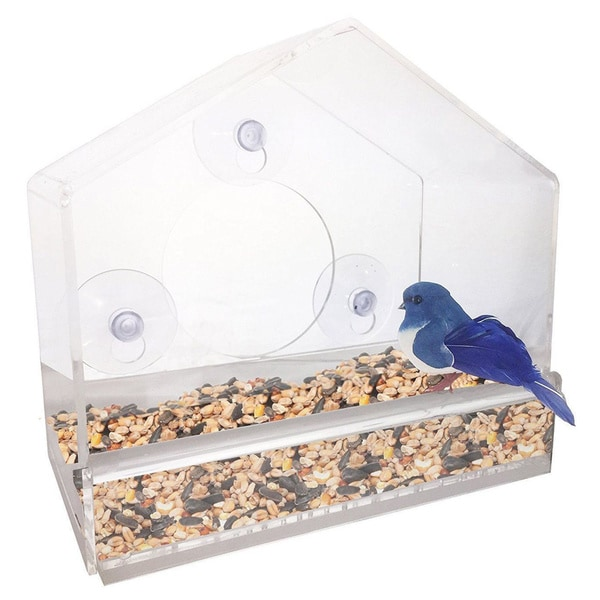 Window Suction Cup Bird Feeder, with Removable Tray, Drainage Holes, and Strong Suction Cup 23455050