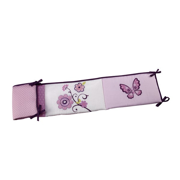 NoJo Butterfly Blossom Multicolor Cotton Padded Crib Bumper 23455674
