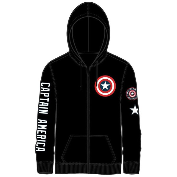 Captain America Men's Zip Up Hoodie 23455991