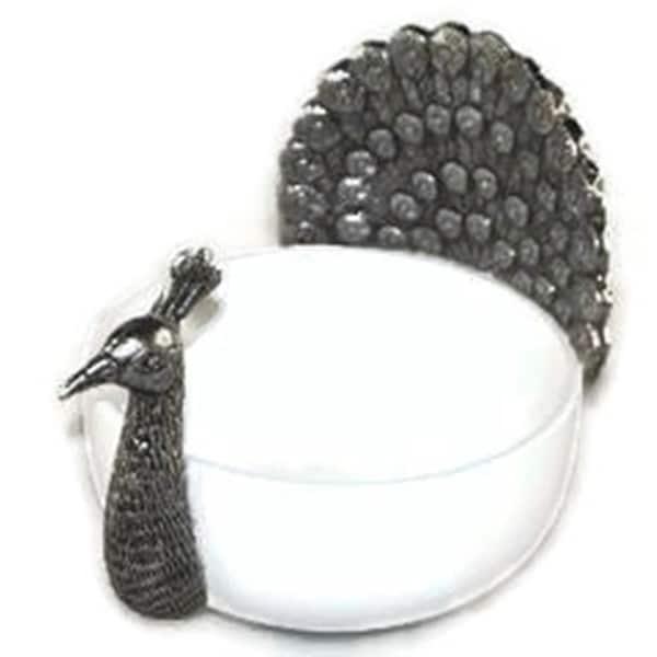 Elegance Ceramic Bowl with Peacock 23478172