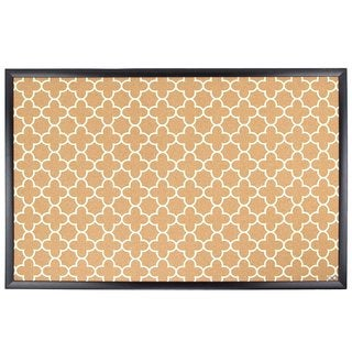 U Brands Black Wood Frame, Fashion Design Print 23 x 35-inch Cork Bulletin Board