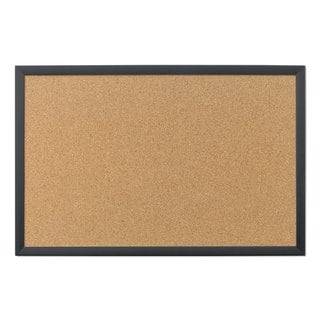 U Brands Black Frame 35 x 23-inch Cork Bulletin Board