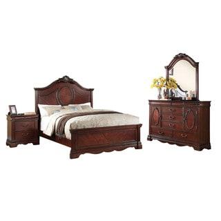 Acme Furniture Estrella 4-Piece Bedroom Set, Dark Cherry