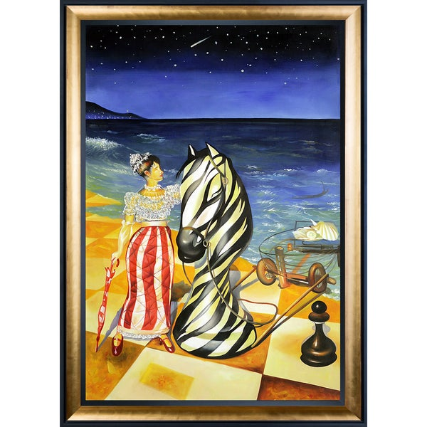 Sergey Roy 'Marianists Imagination' Hand Painted Framed Oil Reproduction on Canvas 23484249