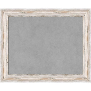 Framed Magnetic Board Choose Your Custom Size, Alexandria White Wash Wood