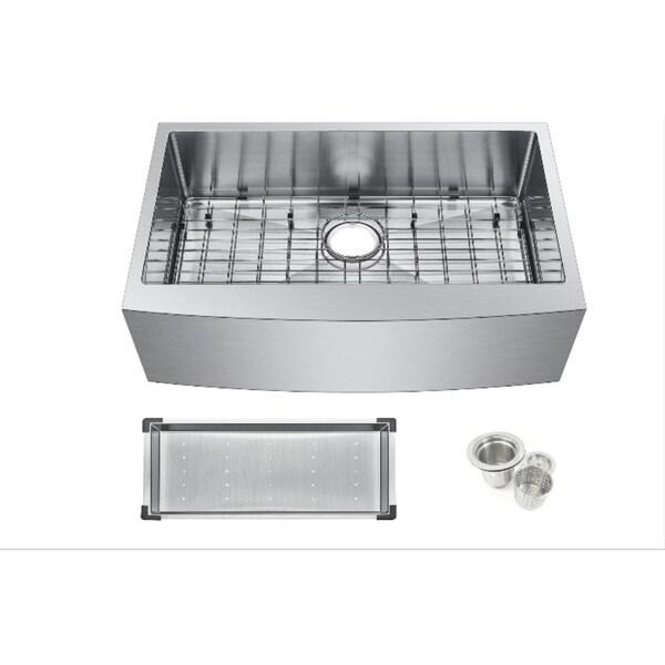 Starstar 304 Stainless-steel 30-inch Farmhouse Apron Single-bowl Kitchen Sink 23496552