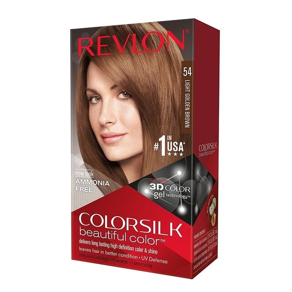 Revlon ColorSilk Hair Color Light Golden Brown 54 23500697