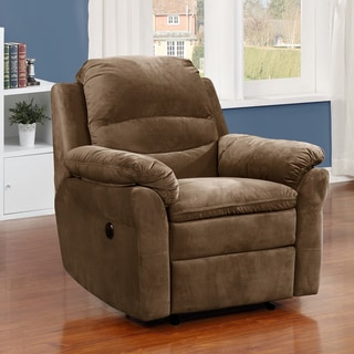 Copper Grove Roseway Brown Fabric Transitional Massage Power Recliner
