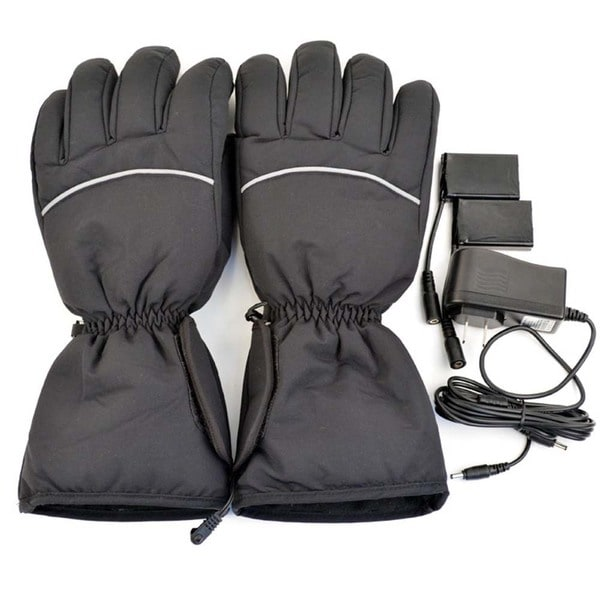iPM Unisex Black Cotton Blend Electric Heated Gloves 23521679