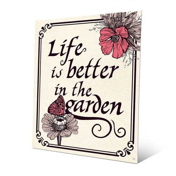 'Life is Better in the Garden' Metal Wall Art 23524128