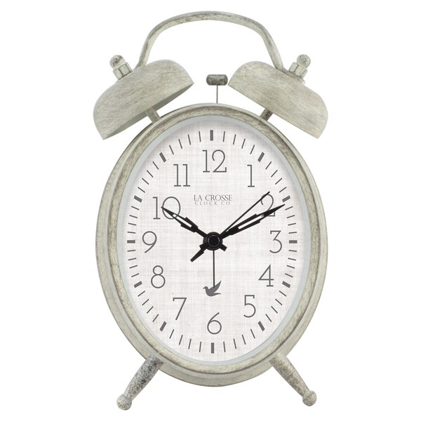 La Crosse Clock 617-2916 Analog Twin Bell Alarm Clock 23526490
