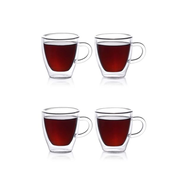 Epare 2 oz. Double-Wall Espresso Cups (Set of 4) (As Is Item) 23550087