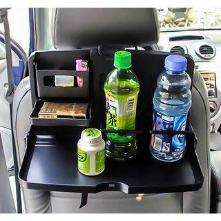 Zone Tech Black Car Snack Tray