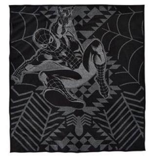 Pendleton Marvel's Amazing Spider-Man Black/Grey Wool/Cotton Throw 23556521