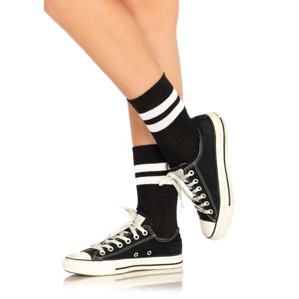 Leg Avenue Athletic Striped Anklet Socks 23557253