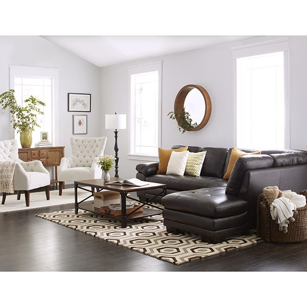 14 abbyson living charlotte beige sectional sofa and ottoma