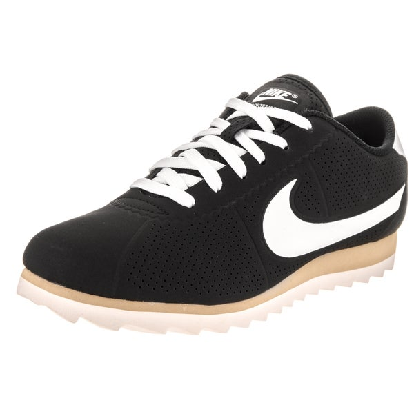 Nike Women's Cortez Ultra Moire Black Synthetic-leather Casual Shoes 23560390