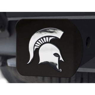 Fanmates Michigan State Black Metal Chrome Hitch Cover 23560865