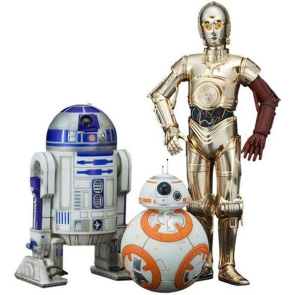 Kotobukiya Star Wars 7 The Force Awakens C-3PO/ R2D2/ BB-8 Action Figure Set 23562390