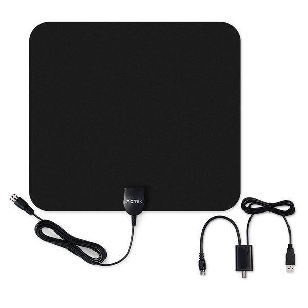 Ultra-thin Indoor Digital HDTV Antenna with Detachable Amplifier Signal Booster 23568498