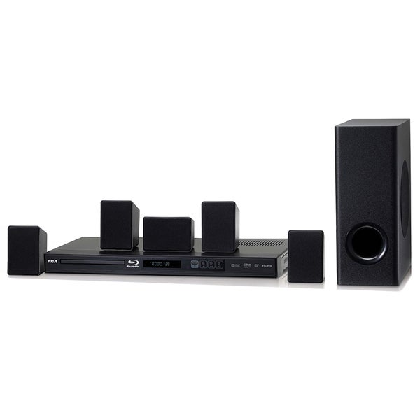 RCA 100-watt Black Refurbished Home Theater System With Blu-ray Player 23573044