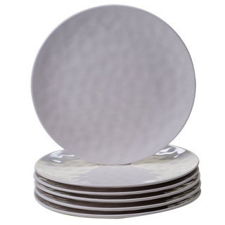 Certified International Solid Cream 11-inch Dinner Plates, Set of 6