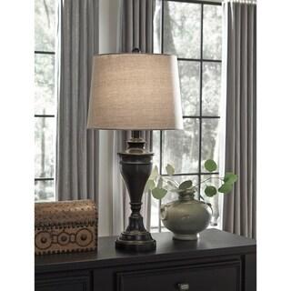 Darlita Bronze Finish 30 Inch Metal Table Lamps - Set of 2