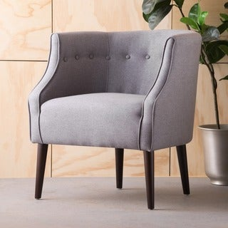 Brandi Contemporary Button-Tufted Fabric Club Chair by Christopher Knight Home