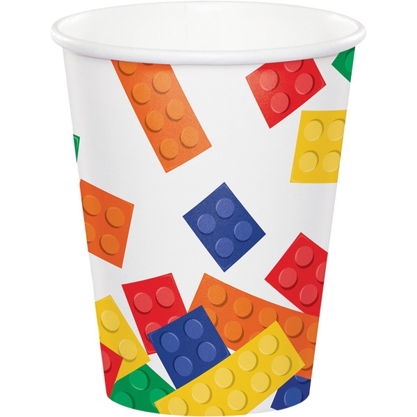 Block Party Multicolored Paper 9-ounce 8-count Hot and Cold Cup (Case of 12) 23588014