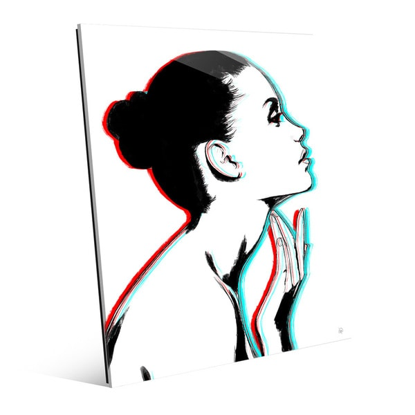 'Stereo Profile' Glass Wall Art Print 23597969