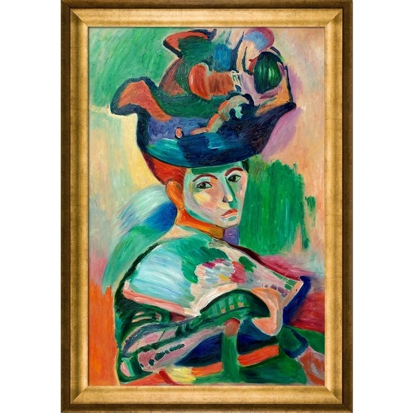 Henri Matisse 'Woman with a Hat' Hand Painted Oil Reproduction 23598857