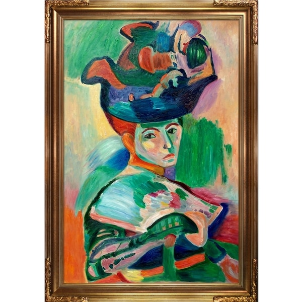 Henri Matisse 'Woman with a Hat' Hand Painted Oil Reproduction 23598880