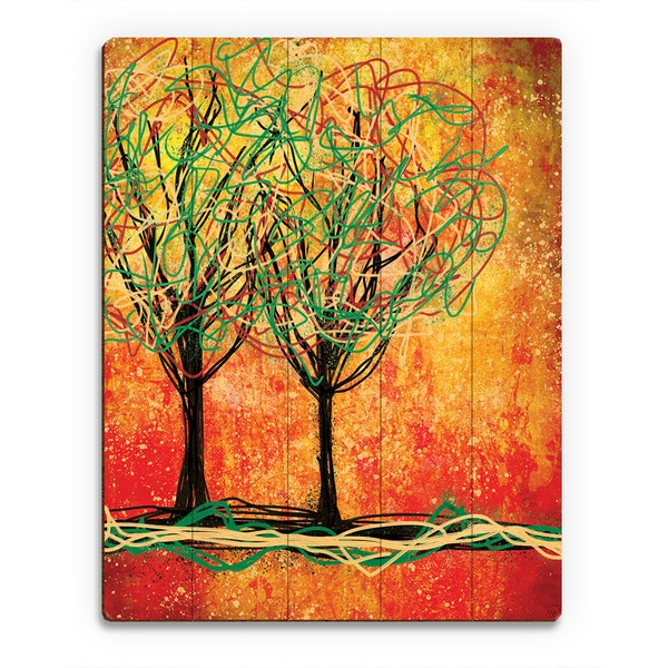 Stringy Trees Red Wood Wall Art Print 23599034