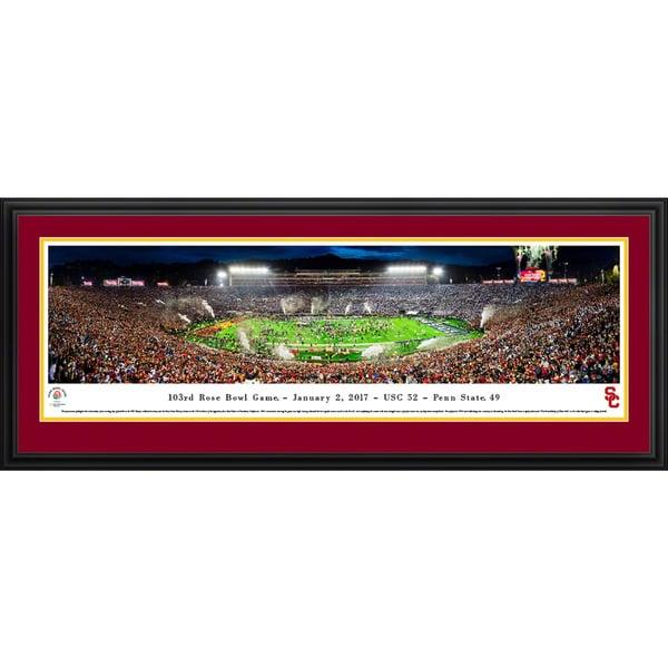 USC Trojans - Rose Bowl 2017 Champions - Blakeway Panoramas Framed Print 23608742