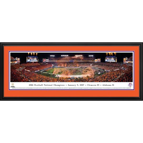 Clemson Tigers - 2016 National Champions - Blakeway Panoramas Framed Print 23608762
