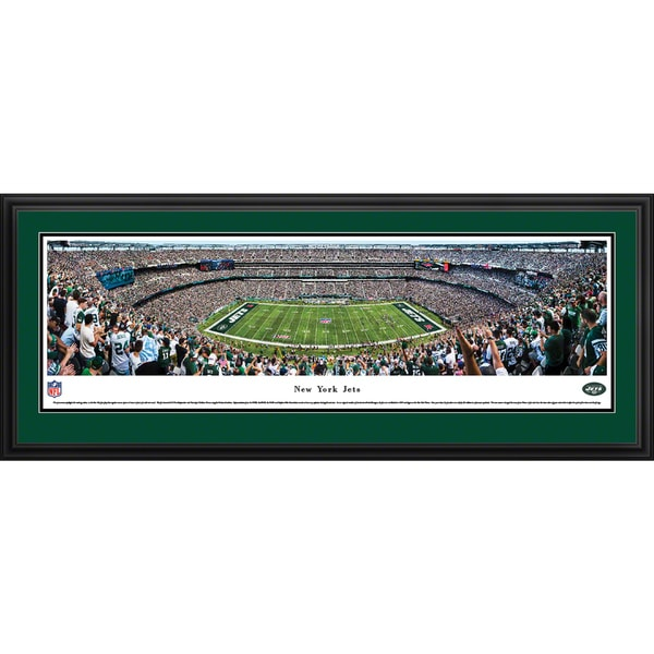 New York Jets - 50 Yard Line - Blakeway Panoramas Framed NFL Print 23608765