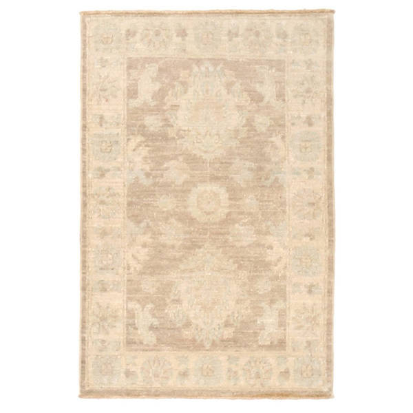 Herat Oriental Afghan Hand-knotted Vegetable Dye Oushak Wool Rug (2'1 x 3'2) - 2'1 x 3'2 23610174