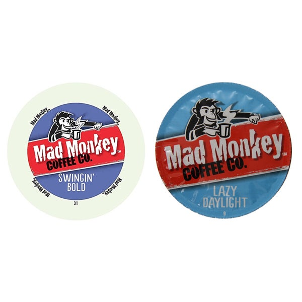 Mad Monkey Coffee Pack, Rich, Fearless and Lively Flavors That Will Win Your Heart Instantly, 96 Count 23610419