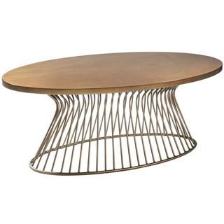 Carson Carrington Telsiai Bronze Coffee Table