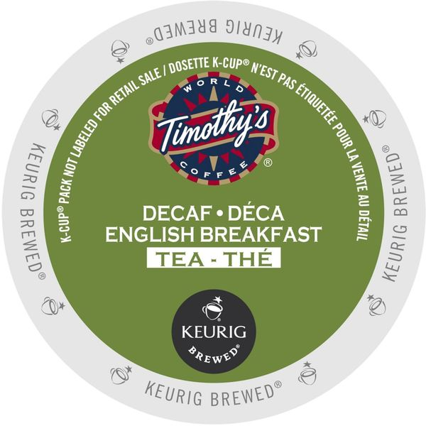 Timothy's English Breakfast Decaf Tea K-Cup Portion Pack 23611610
