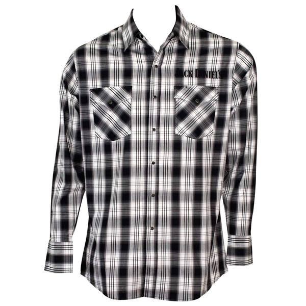 Jack Daniels Plaid Cotton Button-down Shirt 23626336