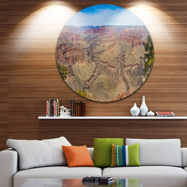 Designart 'Grand Canyon National Park' Landscape Disc Metal Artwork 23662619