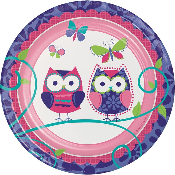 Owl Pal 8 Appetizer/Dessert Plates (12 Packages) 23670621