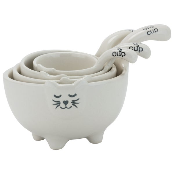 White Cat Measuring Cups (Set of 4) 23674966