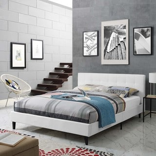 Linnea Full Faux Leather Bed